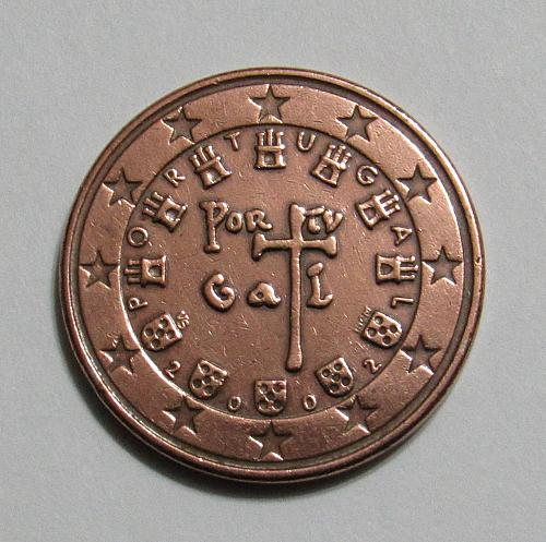 2002 Portugal 5 Euro Cents