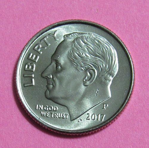 2017-P 10 Cents Roosevelt Dime