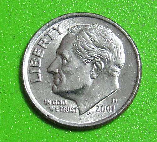 2001-D 10 Cents Roosevelt Dime