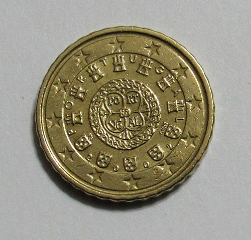 2002 Portugal 10 Euro Cents