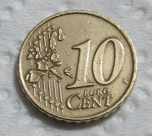 2001 Netherlands 10 Euro Cents