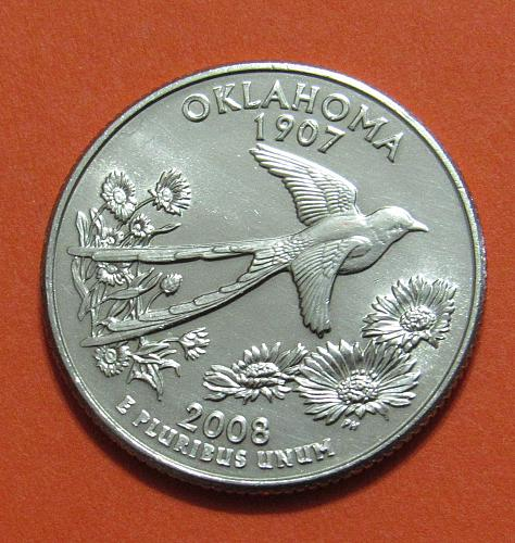 2008-D 25 Cents Oklahoma State Quarter