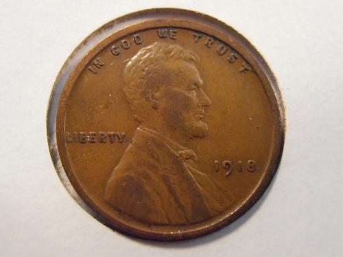 1918 P Lincoln Cent, Extra Fine (18PJF1)
