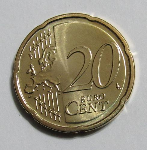 2018 Luxembourg 20 Euro Cents