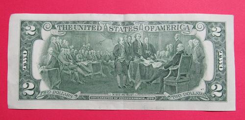 """2013 $2 US Banknote - """"G"""" Seal - Bank of Chicago Illinois"""