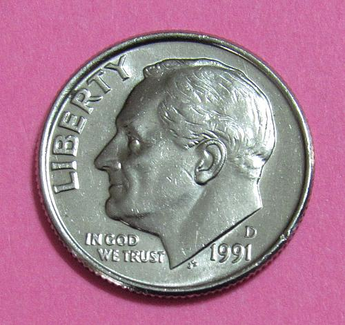 1991-D 10 Cents Roosevelt Dime