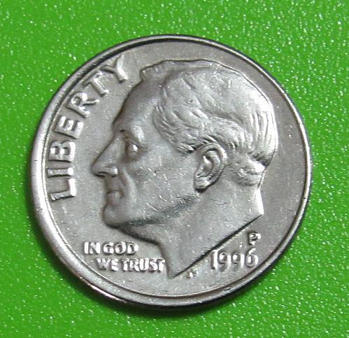 1996-P 10 Cents - Roosevelt Dime