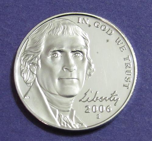 2006-S 5 Cents Jefferson Nickel