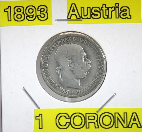 1893 Austria 1 Corona ***Silver***