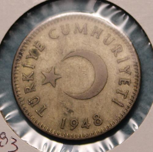 Turkey 1948 1 Lira