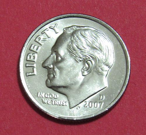 2007-D 10 Cents Roosevelt Dime