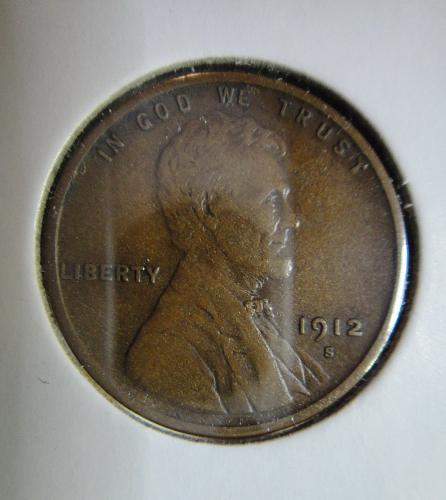 1912-S Lincoln Cent Extra Fine-40 Nice Definition in Hair & Wheat Lines!