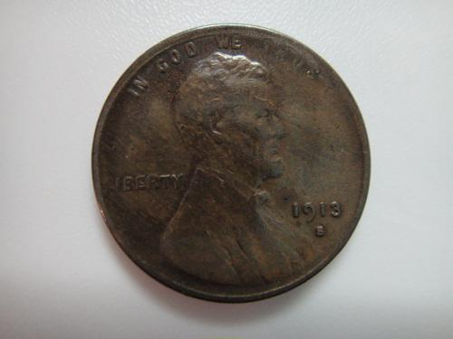 1913-S Lincoln Cent Extra Fine-40- Rich Chocolate Color . . .