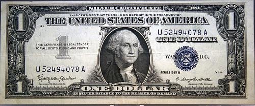 1957 B $1 Silver Certificate