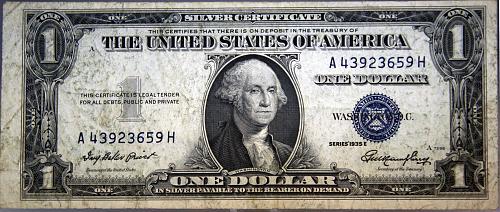 1935 E $1 Silver Certificate