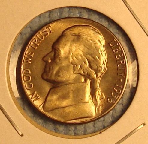 1956 P Jefferson Nickel BU