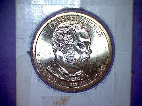 2012 P Presidential Dollar: Chester A. Arthur