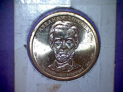 2010 P Presidential Dollar: Abraham Lincoln