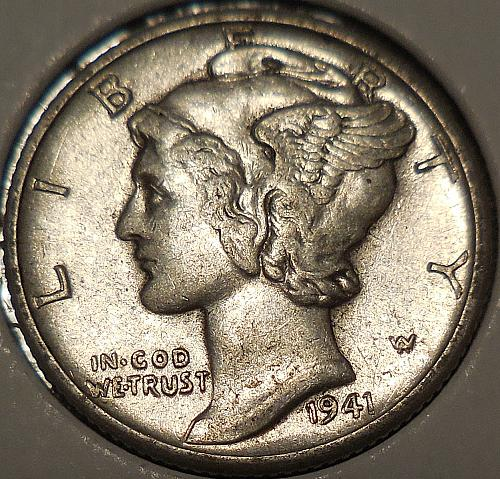 1941-D Winged Liberty Head Dime