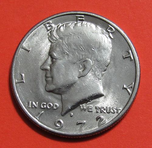 1972-D 50 Cents - Kennedy Half Dollar