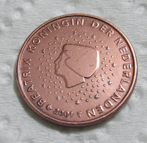 2001 Netherlands 5 Euro Cents