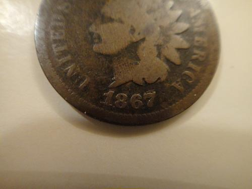 1867/67 Overdate Indian Cent Good-4 Snow 1a FS-01-1867-301