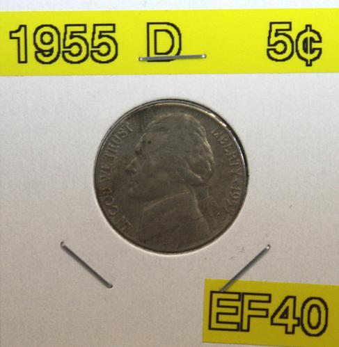1955 D Jefferson Nickel
