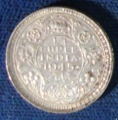 1945(b) India/British 1/4 Rupee XF #2