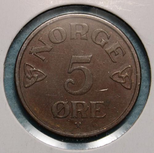Norway 1954 5 ore
