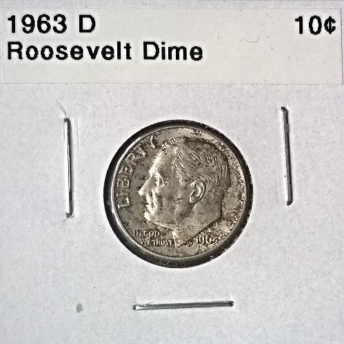 1963 D Roosevelt Dime - 6 Photos!
