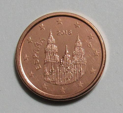 2018 Spain 1 Euro Cent