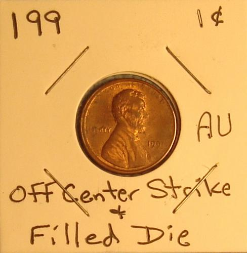 1991 P Lincoln Memorial Cent Small Cent AU