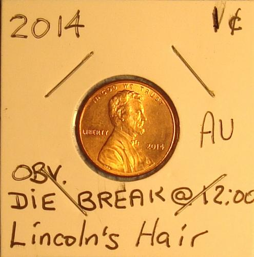 2014 P Lincoln Shield Cent Small Cent AU