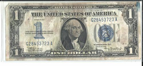 """1934   SILVER CERTIFICATE  """" FUNNY BACK """""""