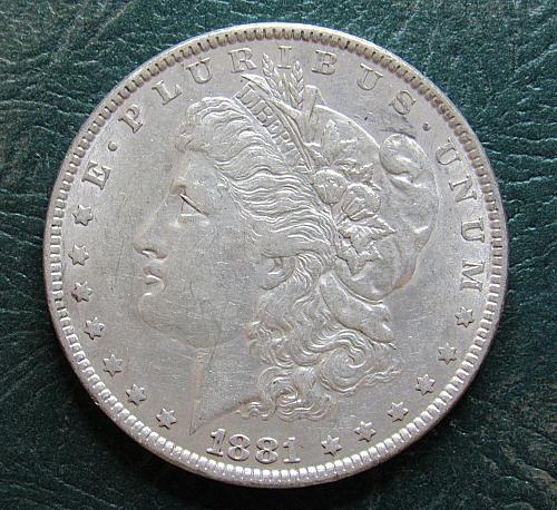 1881 P Morgan Silver Dollar