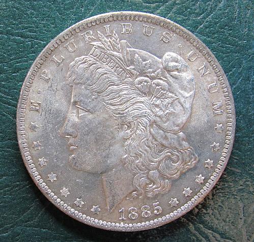 1885 P Morgan Silver Dollar