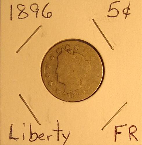 1896 P Liberty Nickel Fair