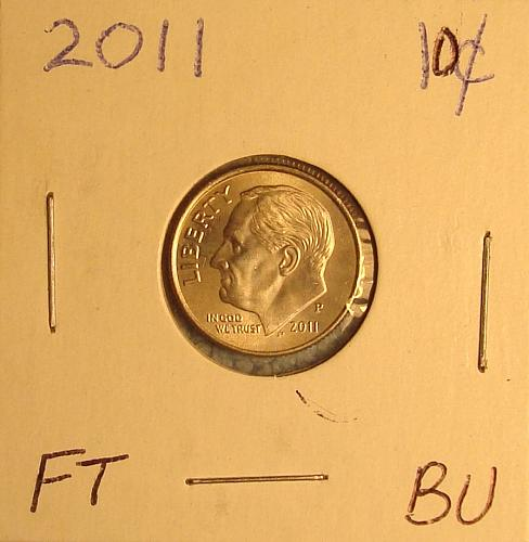 2011 P Roosevelt Dime BU FT #1
