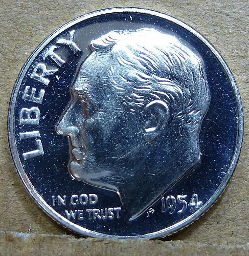 1954-P GEM Brilliant PROOF Roosevelt Dime ( 1178 )