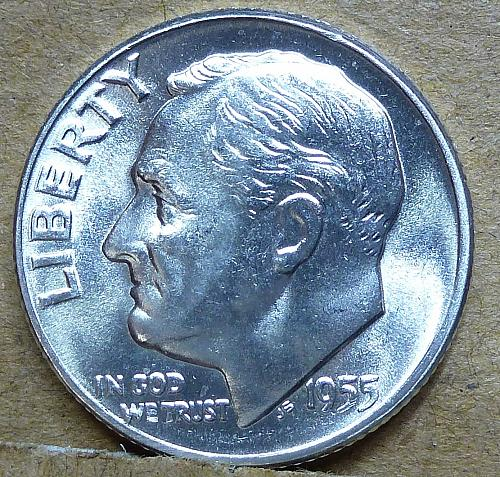 1955-P Brilliant Uncirculated Roosevelt Dime ( 1162 )