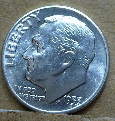 1955-D Uncirculated Roosevelt Dime ( 1163 )