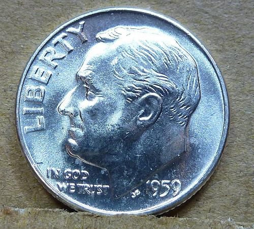 1959-D GEM Brilliant Uncirculated Roosevelt Dime ( 1187 )