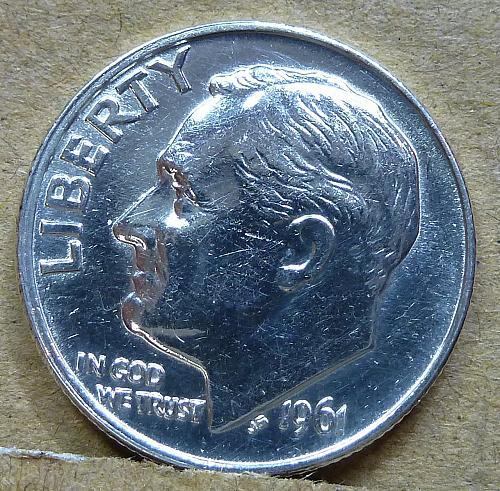 1961-P GEM Brilliant Uncirculated Roosevelt Dime ( 1189 )