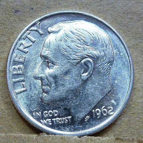 1962-P GEM Brilliant Uncirculated Roosevelt Dime ( 1177 )