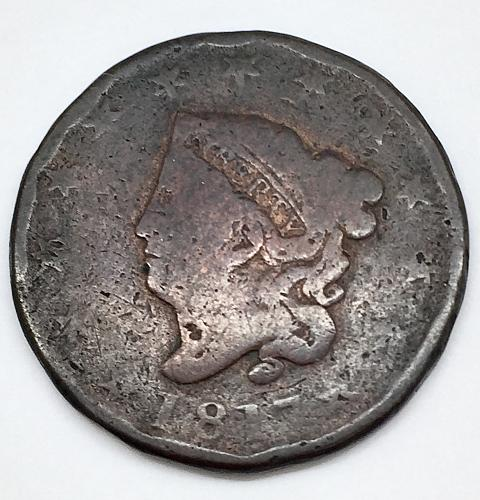 1817 Coronet Liberty Head Large Cent - 13 Stars