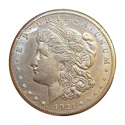 1921 S Morgan Silver Dollar - AU / Almost Uncirculated - Better Grade