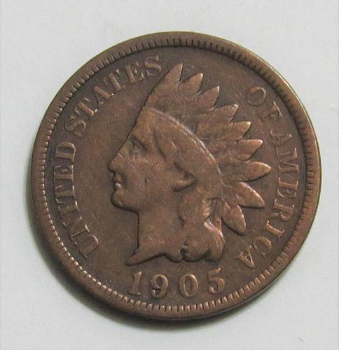 1905 1 Cent - Indian Head Cent