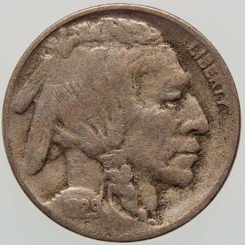 1929 S Buffalo Nickel #4