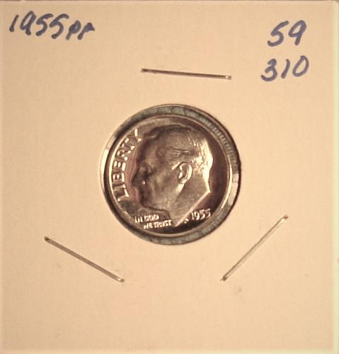 1955 P Roosevelt Dime Proof