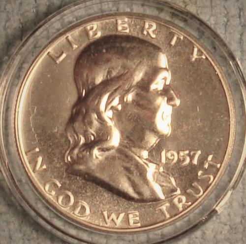 1957 P Franklin Half Dollar Proof
